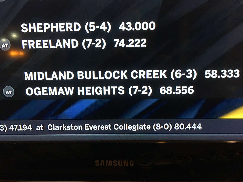 Freeland Football opens playoffs by hosting Shepherd.